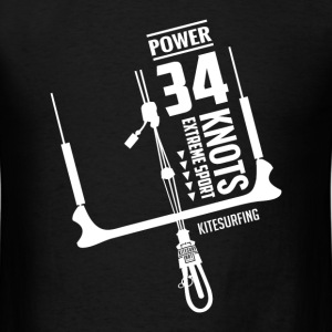 Power 34 Knots Kitesurfing White - Men's T-Shirt