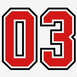 03 sports jersey football number T-SHIRT - Men's T-Shirt