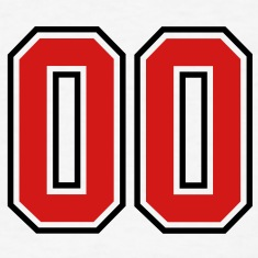 00 sports jersey football number T-SHIRT
