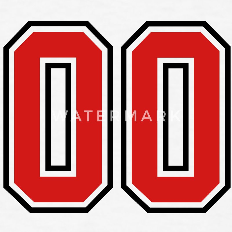 00 Sports Jersey Football Number Zero T Shirt Spreadshirt