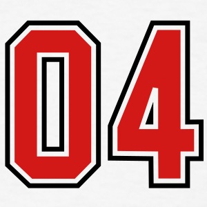 04 sports jersey football number T-SHIRT - Men's T-Shirt