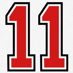 11 sports jersey football number T-SHIRT