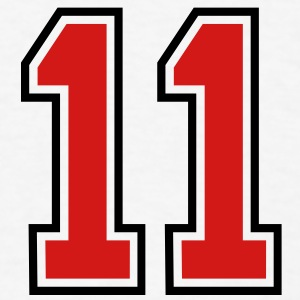 11 sports jersey football number T-SHIRT - Men's T-Shirt