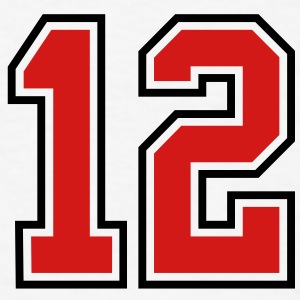 12 sports jersey football number T-SHIRT - Men's T-Shirt
