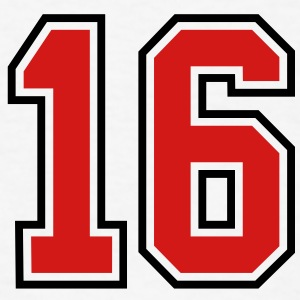 16 sports jersey football number T-SHIRT - Men's T-Shirt