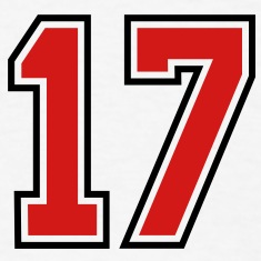 17 sports jersey football number T-SHIRT