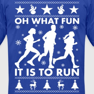 Oh What Fun To Run T-Shirts - Men's T-Shirt by American Apparel