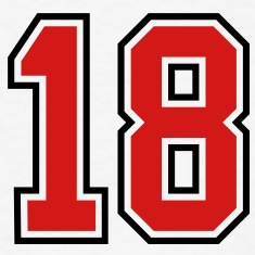 18 sports jersey football number T-SHIRT