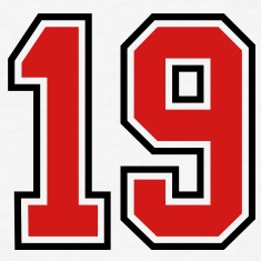 19 sports jersey football number T-SHIRT