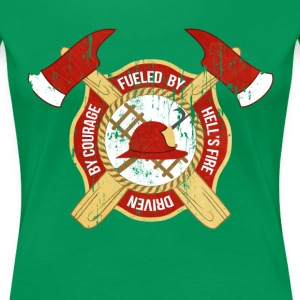 Fueled by Hell's fire Firefighter T-shirt Women's T-Shirts - Women's Premium T-Shirt