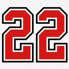 22 sports jersey football number T-SHIRT