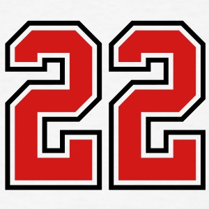 22 sports jersey football number T-SHIRT - Men's T-Shirt
