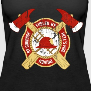 Fueled by Hell's fire Firefighter T-shirt Tanks - Women's Premium Tank Top