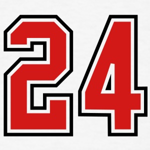 24 sports jersey football number T-SHIRT - Men's T-Shirt