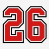 26 sports jersey football number T-SHIRT - Men's T-Shirt