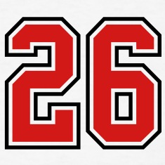 26 sports jersey football number T-SHIRT