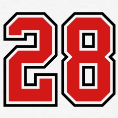 28 sports jersey football number T-SHIRT