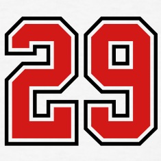 29 sports jersey football number T-SHIRT