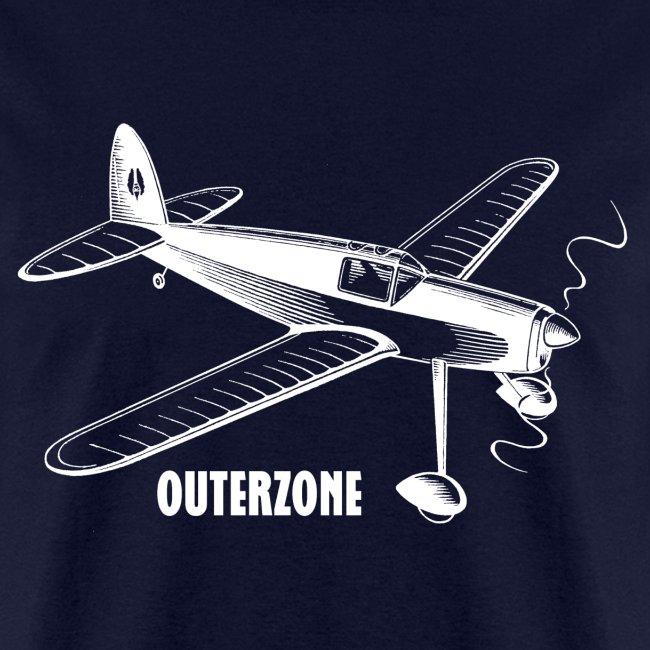 Outerzone, white logo