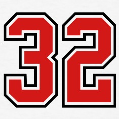 32 sports jersey football number T-SHIRT