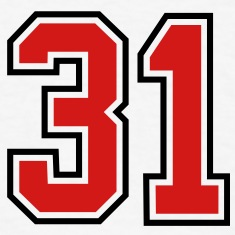 31 sports jersey football number T-SHIRT