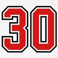 30 sports jersey football number T-SHIRT