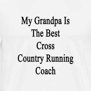 my_grandpa_is_the_best_cross_country_run T-Shirts - Men's Premium T-Shirt