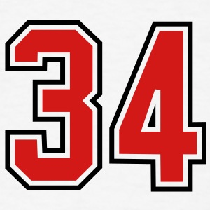 34 sports jersey football number T-SHIRT - Men's T-Shirt