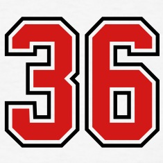 36 sports jersey football number T-SHIRT