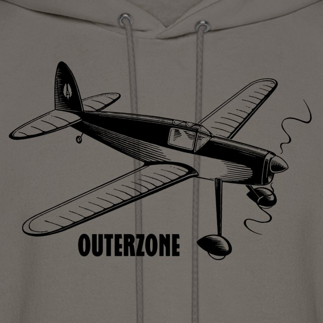 Outerzone hoodie, black logo