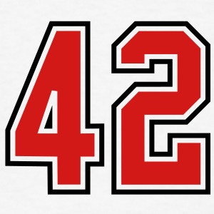 42 sports jersey football number T-SHIRT - Men's T-Shirt