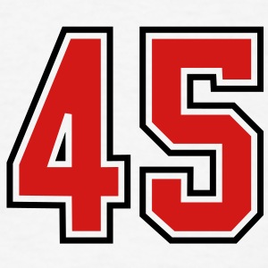 45 sports jersey football number T-SHIRT - Men's T-Shirt