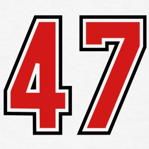 47 sports jersey football number T-SHIRT - Men's T-Shirt