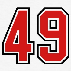 49 sports jersey football number T-SHIRT