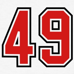 49 sports jersey football number T-SHIRT - Men's T-Shirt