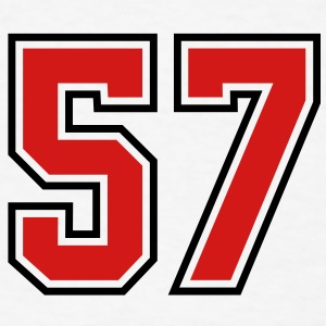 57 sports jersey football number T-SHIRT - Men's T-Shirt