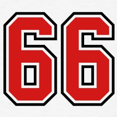 66 sports jersey football number T-SHIRT