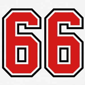 66 sports jersey football number T-SHIRT - Men's T-Shirt