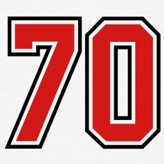 70 sports jersey football number T-SHIRT