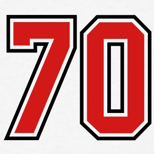 70 sports jersey football number T-SHIRT - Men's T-Shirt