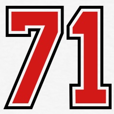71 sports jersey football number T-SHIRT