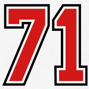 71 sports jersey football number T-SHIRT - Men's T-Shirt