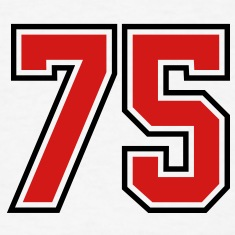 75 sports jersey football number T-SHIRT