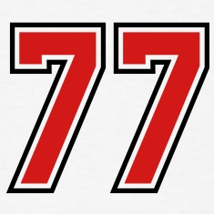 77 sports jersey football number T-SHIRT