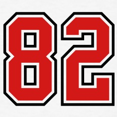 82 sports jersey football number T-SHIRT