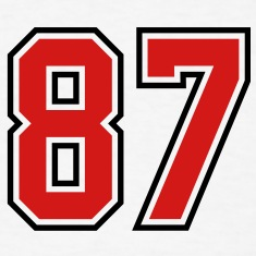 87 sports jersey football number T-SHIRT
