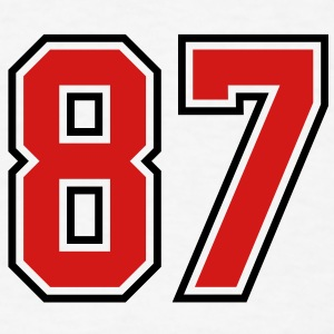 87 sports jersey football number T-SHIRT - Men's T-Shirt