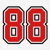 88 sports jersey football number T-SHIRT - Men's T-Shirt