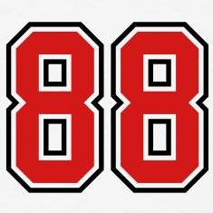 88 sports jersey football number T-SHIRT