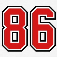 86 sports jersey football number T-SHIRT